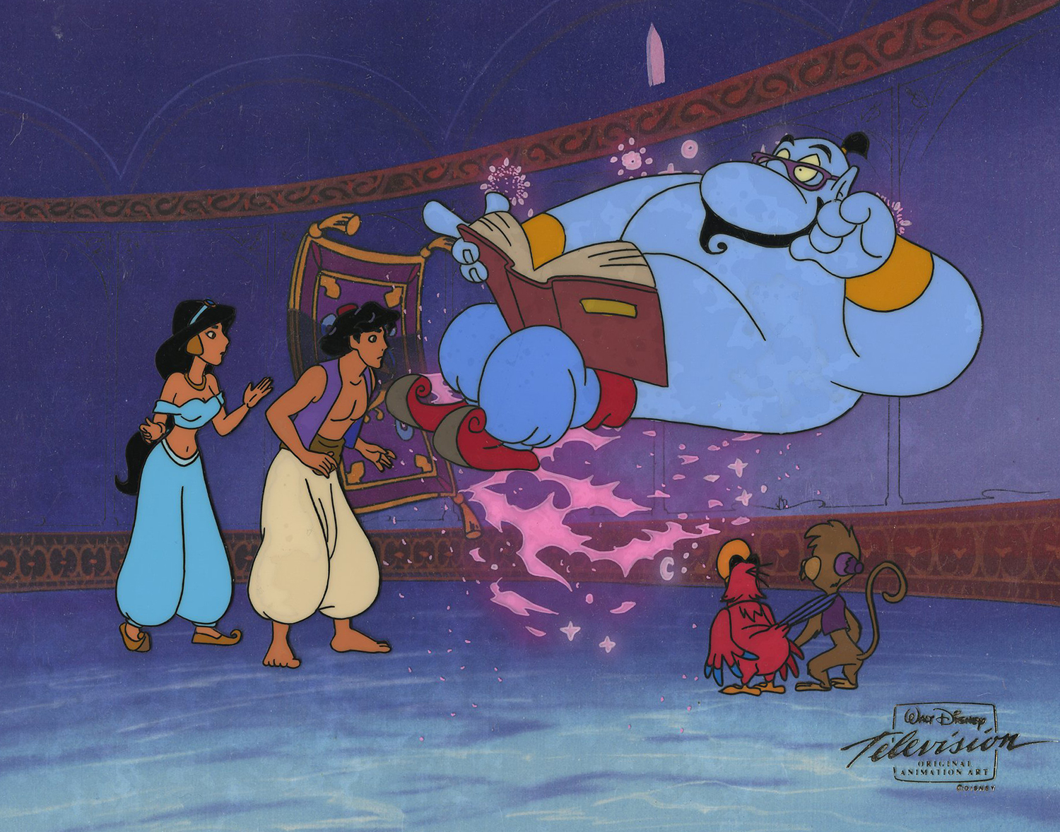 aladdin tv series production cel id decaladdin6743 van eaton