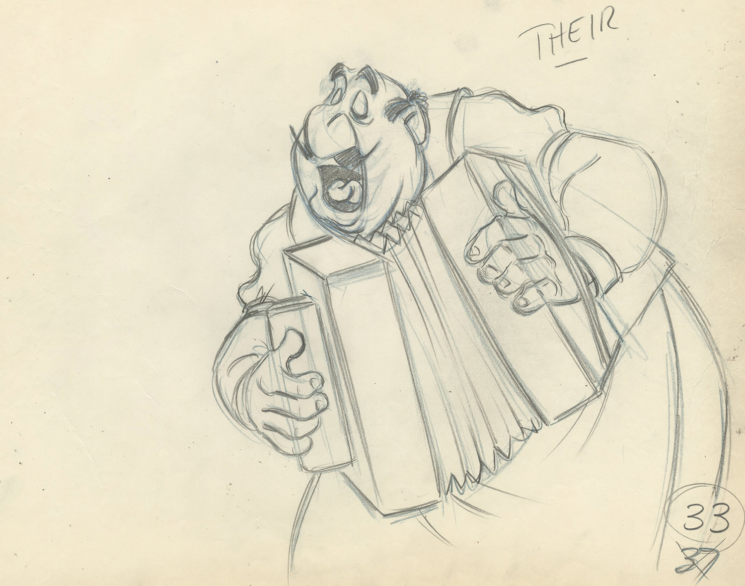 Lady And The Tramp Production Drawing Id Julyladytramp0552 Van Eaton Galleries