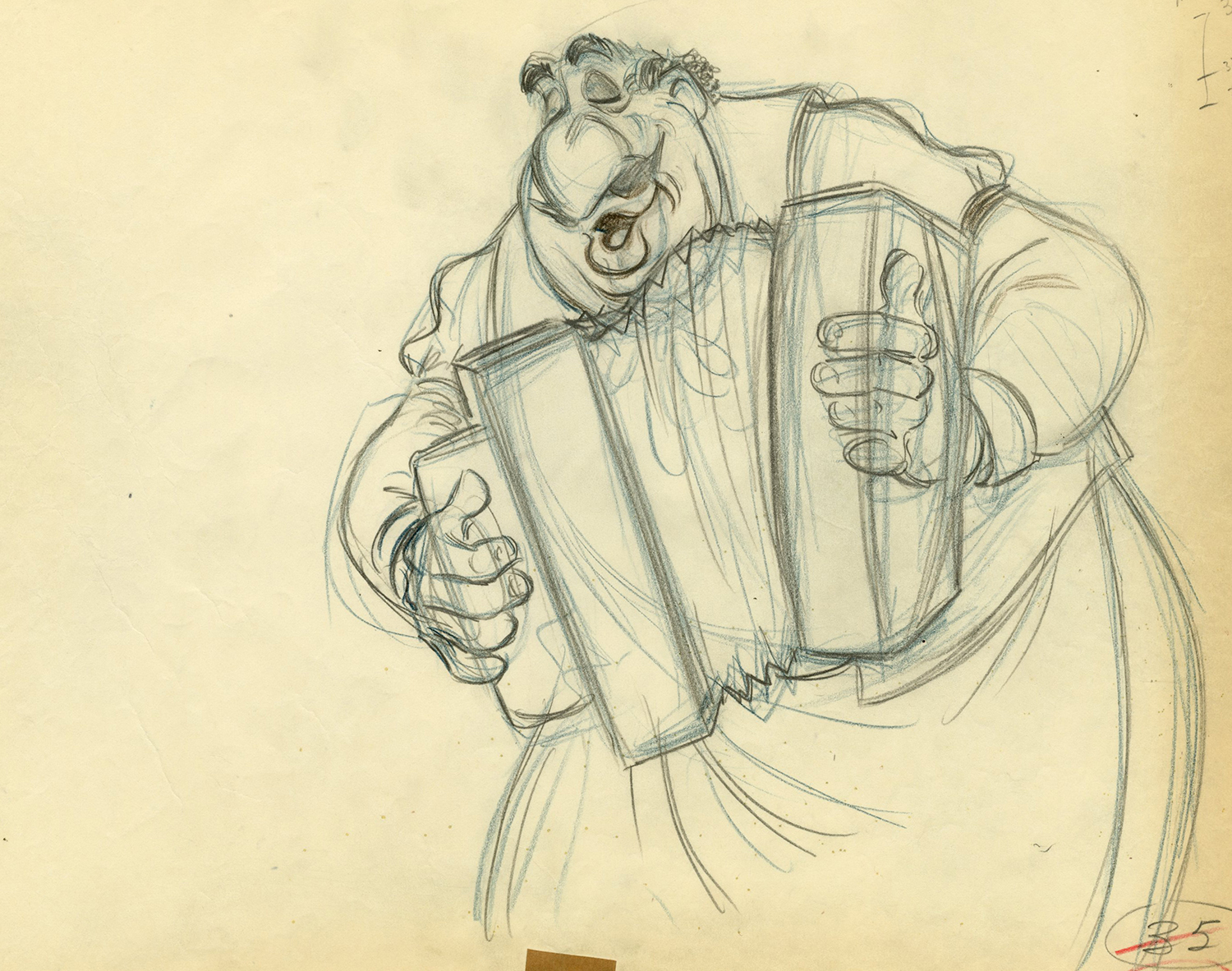 Lady And The Tramp Production Drawing Id Julyladytramp5199 Van Eaton Galleries