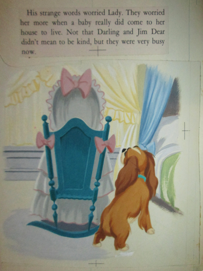 Lady And The Tramp Golden Book Illustration Art Id Aprladytramp17691 Van Eaton Galleries
