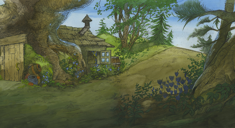 Winnie The Pooh Forest Background: Winnie The Pooh Production Background