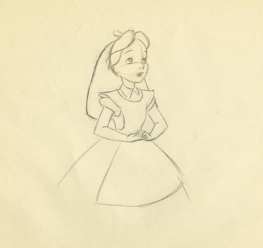 Alice In Wonderland Production Drawing Id Julywonderland17484 Van Eaton Galleries