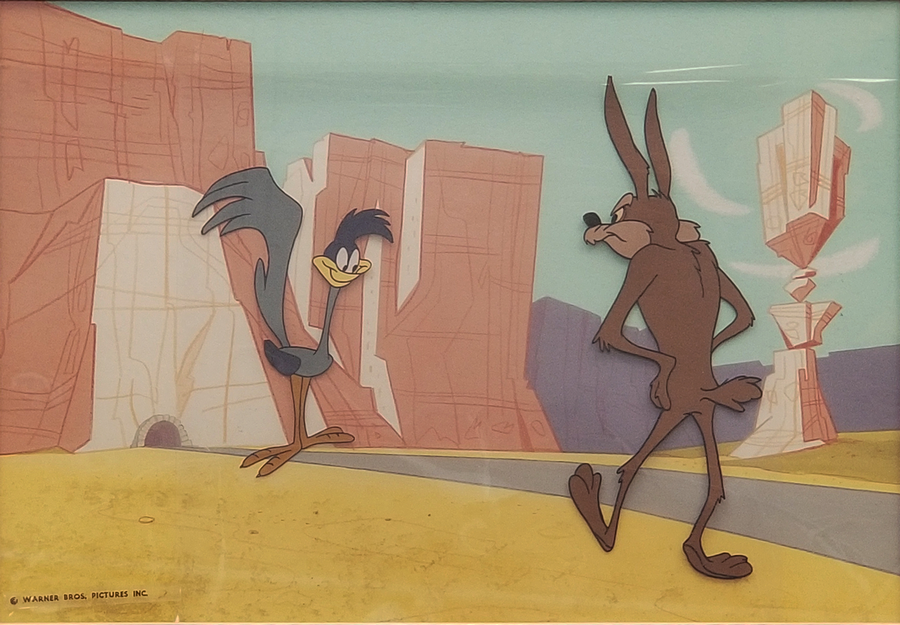 Wile E Coyote And Road Runner Cel Amp Background Id