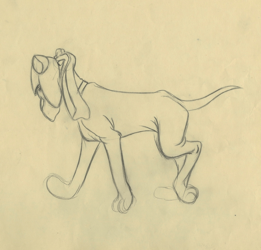 Lady And The Tramp Production Drawing Id Septladytramp17985 Van Eaton Galleries