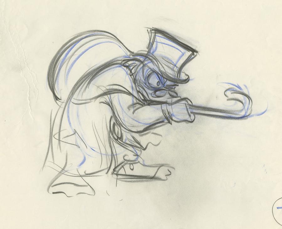 Christmas Carol Scrooge Drawing.Mickey S Christmas Carol Production Drawing Id
