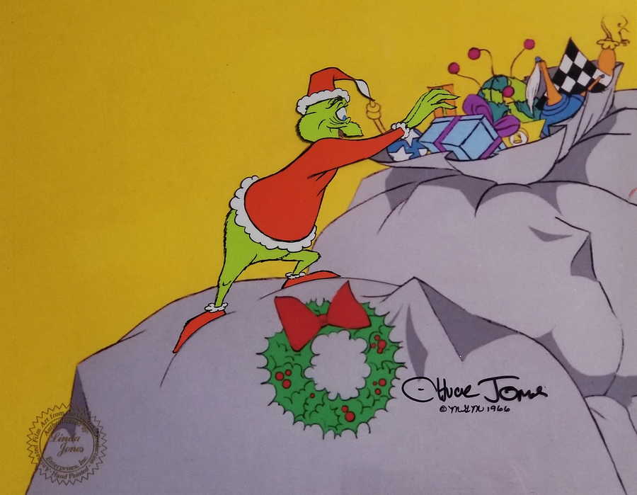 Grinch Stole Christmas Production Cel