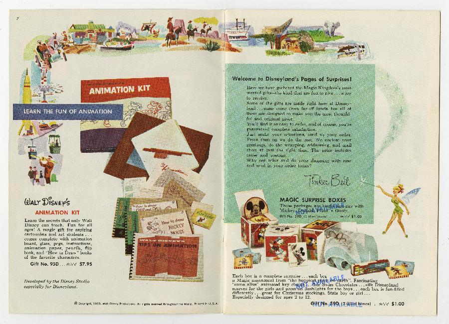 1960 Gifts from Disneyland Mail Order Catalog - ID: julydisneyland17045