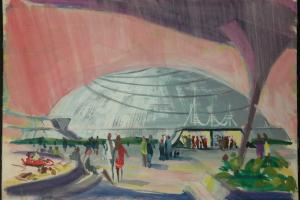 Space Mountain Original Concept Painting - ID:mardisneyland2659 Disneyana