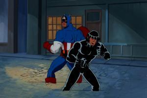 X-Men Production Cel & Background - ID: junxmen008 Marvel