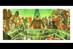 Kingdom Come: War Room Signed Giclee on Canvas Print - ID: AR0317DC Alex Ross