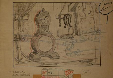 Mickey's Mellerdrammer Original Layout Drawing - ID:mardisney2914 Walt Disney