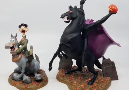 Sleepy Hollow Ichabod & Horseman WDCC Figurine Set - ID: febwdcc21625 Disneyana