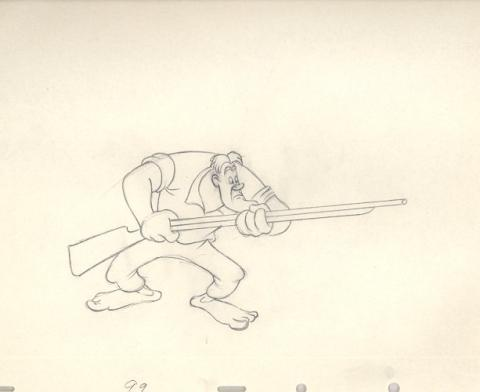 The Martins and The Coys Production Drawing - ID:0109make13 Walt Disney