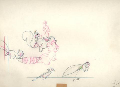 Johnny Appleseed Production Drawing - ID:0112mel02 Walt Disney