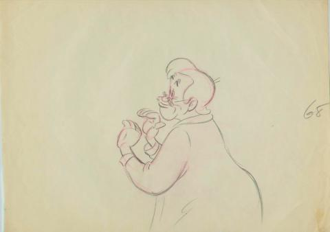 Pinocchio Production Drawing - ID:1217geppetto001 Walt Disney