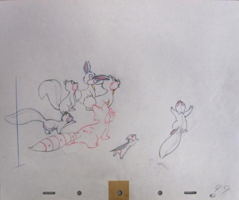 Johnny Appleseed Production Drawing - ID:appleseed2002 Walt Disney