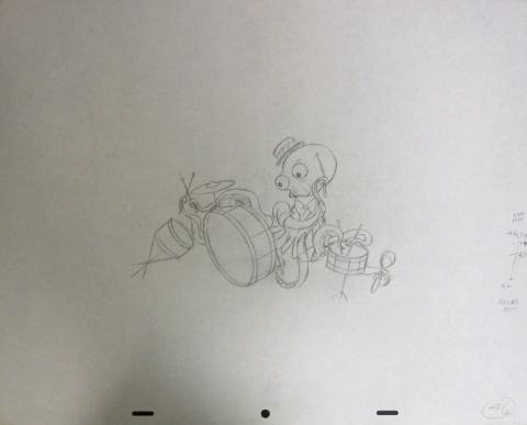 Bedknobs and Broomsticks Production Drawing - ID:broom0719 Walt Disney