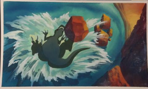 The Land Before Time Color Key Concept - ID:mar15land028 Don Bluth