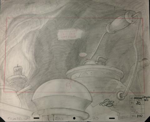 Thumbelina Layout Drawing - ID:mar15thumb015 Don Bluth