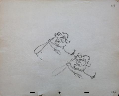 Chip 'n Dale Production Drawing - ID:marchipdale3583 Walt Disney