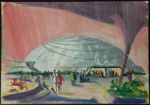 Space Mountain Original Concept Painting - ID:mardisneyland2659 Disneyana