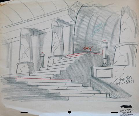 1980s Production Background Layout Drawing - ID:marhannalayout3610 Hanna Barbera