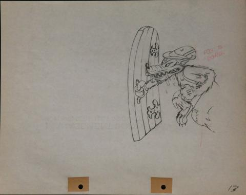 The Big Bad Wolf Production Drawing - ID:marlittlepigs2634 Walt Disney