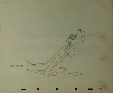 Pluto Production Drawing - ID:marpluto2617 Walt Disney