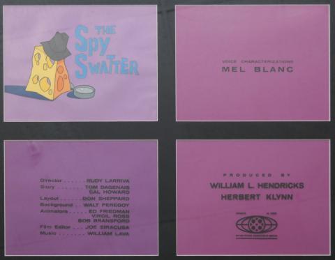 Daffy Duck Title Cel - ID: aprdaffy7455 Warner Bros.