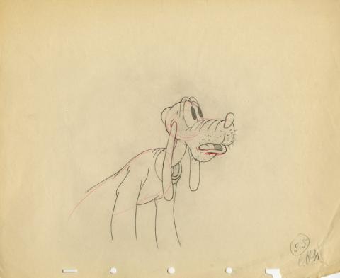Pluto Production Drawing - ID: aprpluto5580 Walt Disney