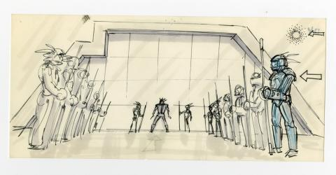 TRON Original Storyboard Drawing - ID: augtron7027 Walt Disney
