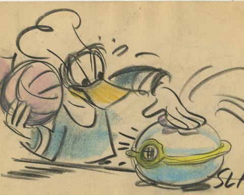 Donald Duck Storyboard Drawing - ID:decdonald4853 Walt Disney