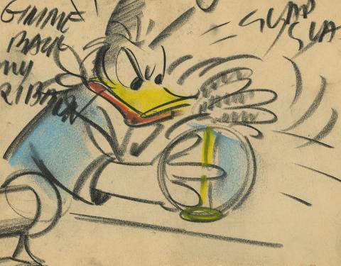 Donald Duck Storyboard Drawing - ID:decdonald5863 Walt Disney