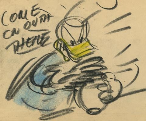 Donald Duck Storyboard Drawing - ID:decdonald7861 Walt Disney