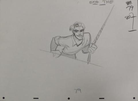 The Little Mermaid Production Drawing - ID: decmermaid5500 Walt Disney