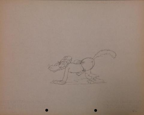 The Big Bad Wolf Production Drawing - ID: janbigbadwolf2773 Walt Disney
