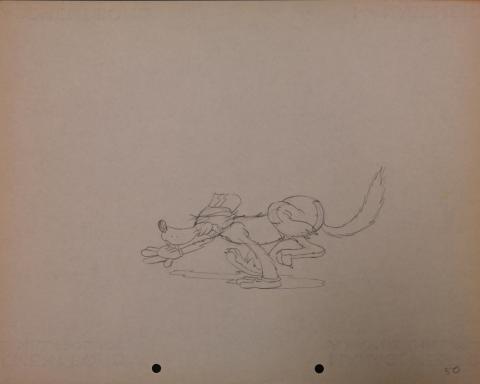 The Big Bad Wolf Production Drawing - ID: janbigbadwolf2774 Walt Disney