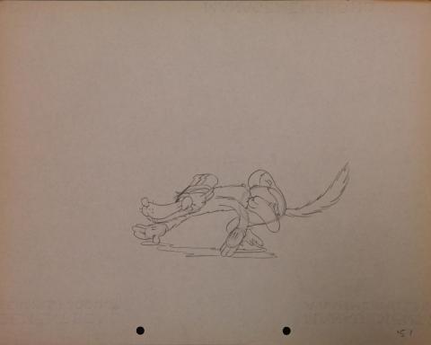 The Big Bad Wolf Production Drawing - ID: janbigbadwolf2775 Walt Disney