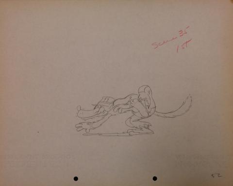 The Big Bad Wolf Production Drawing - ID: janbigbadwolf2776 Walt Disney