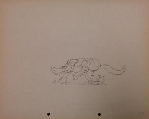 The Big Bad Wolf Production Drawing - ID: janbigbadwolf2778 Walt Disney