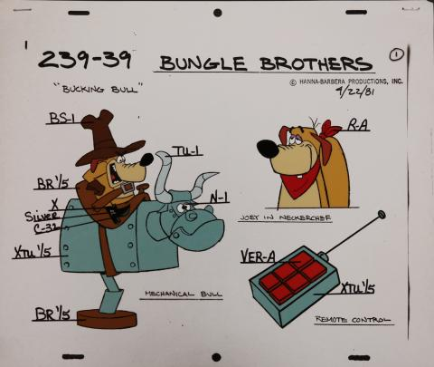Bungle Brothers Model Cel - ID: janbungle2590 Hanna Barbera