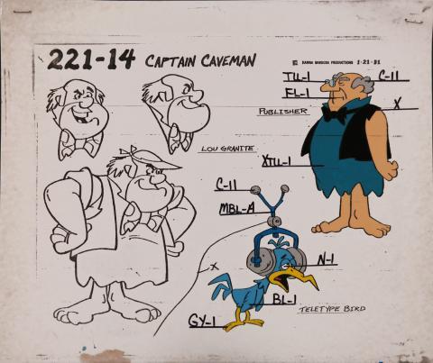 Captain Caveman Model Cel - ID: jancaveman2550 Hanna Barbera