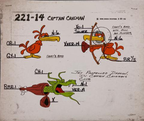 Captain Caveman Model Cel - ID: jancaveman2551 Hanna Barbera