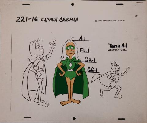 Captain Caveman Model Cel - ID: jancaveman2561 Hanna Barbera