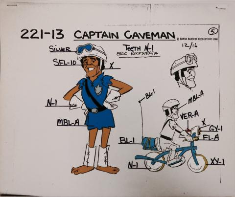 Captain Caveman Model Cel - ID: jancaveman2592 Hanna Barbera
