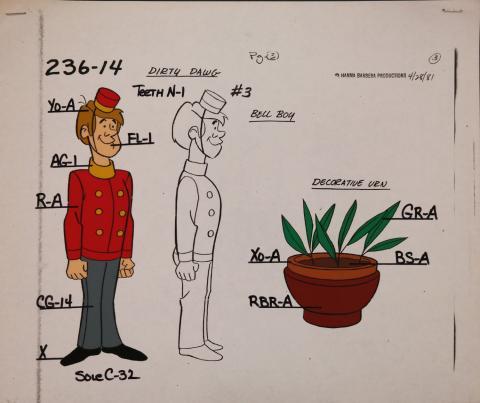 Dirty Dawg Model Cel - ID: jandirtydawg2548 Hanna Barbera