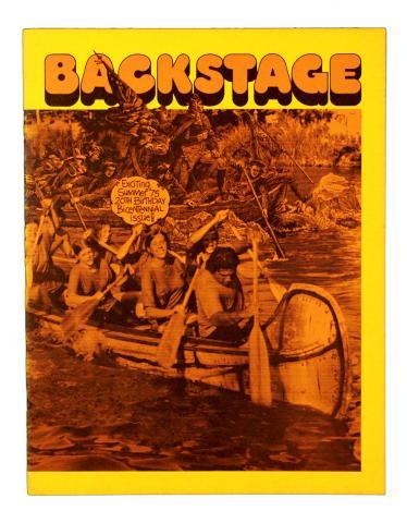 Backstage Magazine Cast Member Publication - Summer 1975 - ID: jandisneylandPAB036a Disneyana