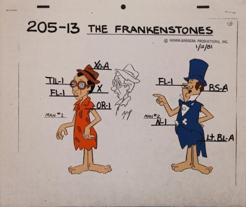 The Flintstones Frankenstones Model Cel - ID: janflintstones2537 Hanna Barbera