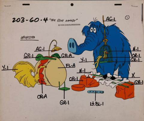The Flintstones Comedy Show Model Cel - ID: janflintstones2544 Hanna Barbera