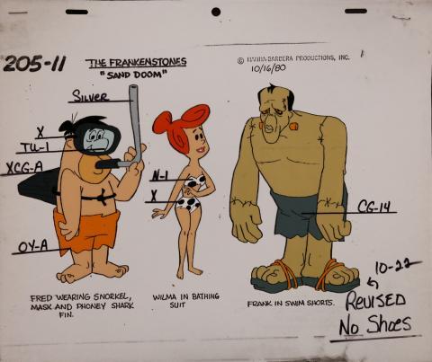 The Flintstones Frankenstones Model Cel - ID: janflintstones2580 Hanna Barbera
